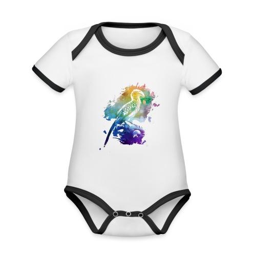 Afrika | Gelbschnabeltoko - Baby Bio-Kurzarm-Kontrastbody