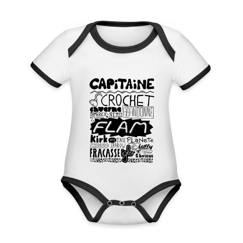 capitaine - Body Bébé bio contrasté manches courtes