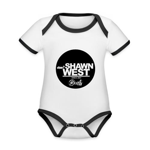 SHAWN WEST BUTTON - Baby Bio-Kurzarm-Kontrastbody