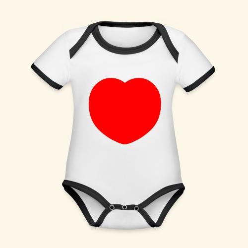 Heart - Baby Bio-Kurzarm-Kontrastbody