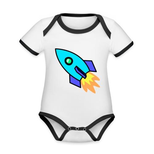 Blue rocket - Organic Baby Contrasting Bodysuit