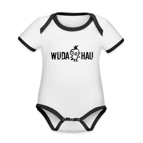 Vorschau: Wüda Hau - Baby Bio-Kurzarm-Kontrastbody