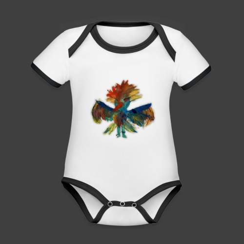 Mayas bird - Organic Baby Contrasting Bodysuit