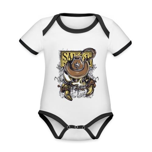 Saloon - Body contraste para bebé de tejido orgánico