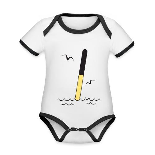 FP25 POHJOISVIITTA Merimerkit funprint24 net - Vauvan kontrastivärinen, lyhythihainen luomu-body