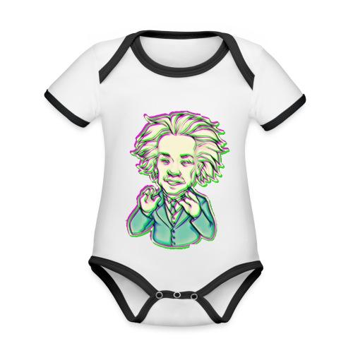 IMG 20210819 144743 e - Body da neonato a manica corta, ecologico e in contrasto cromatico