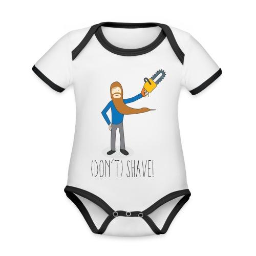 (Don't) SHAVE! - Body da neonato a manica corta, ecologico e in contrasto cromatico