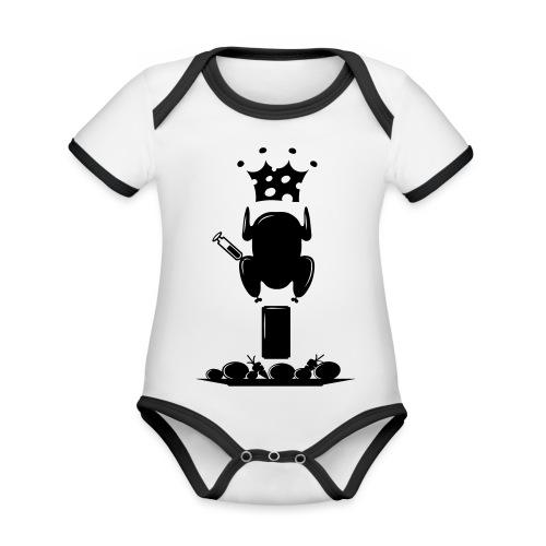 Bella maglietta per le donne 2 - Body da neonato a manica corta, ecologico e in contrasto cromatico