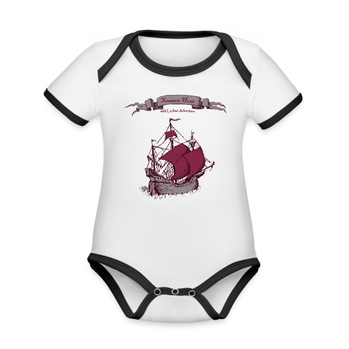 pirate Ship - Organic Baby Contrasting Bodysuit