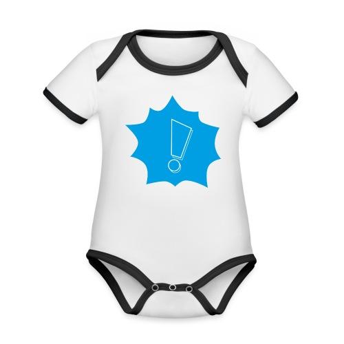 Ljudikon - Ekologisk kontrastfärgad kortärmad babybody