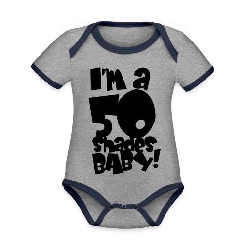50 shades - Organic Baby Contrasting Bodysuit