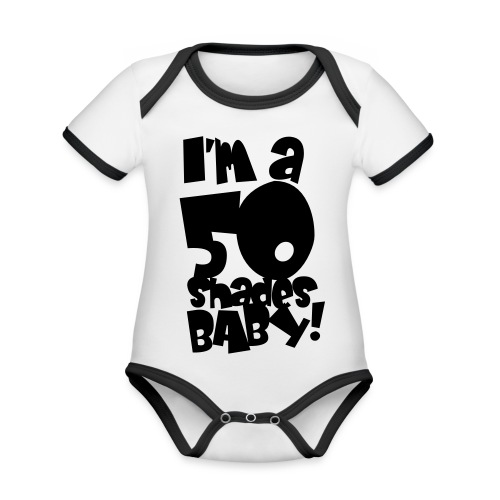 50 shades - Organic Baby Contrasting Bodysuit