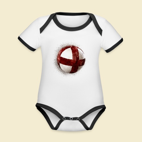 Radball   Cycleball - Baby Bio-Kurzarm-Kontrastbody