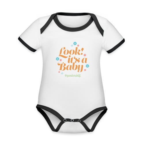 Look! It's a Baby. - Baby Bio-Kurzarm-Kontrastbody
