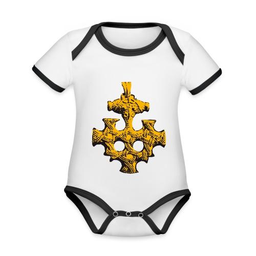 Goldschatz - Baby Bio-Kurzarm-Kontrastbody
