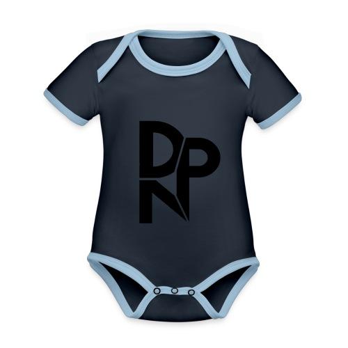 NI6dp3OX png - Baby contrasterend bio-rompertje met korte mouwen
