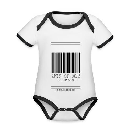 STEUN JE LOKAAL - Baby contrasterend bio-rompertje met korte mouwen