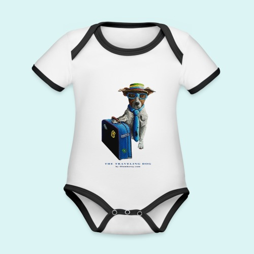 The Traveling Dog - Organic Baby Contrasting Bodysuit