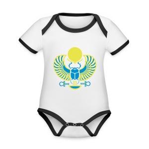 Geflügelter Skarabäus - Baby Bio-Kurzarm-Kontrastbody