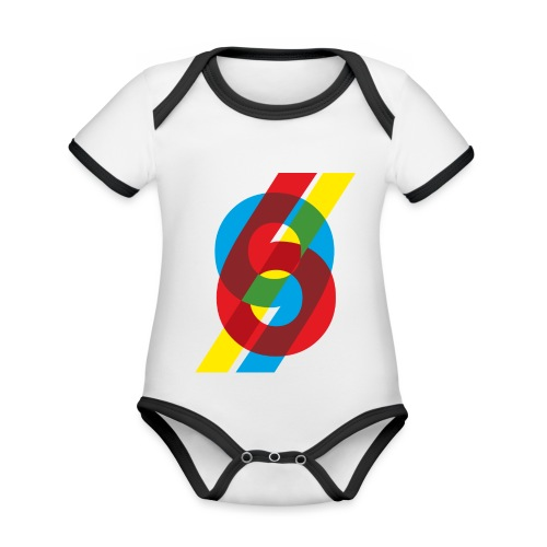 colorful numbers - Organic Baby Contrasting Bodysuit