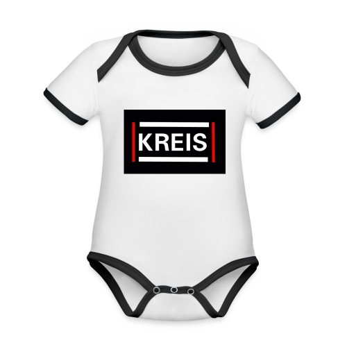 Kreis - Baby Bio-Kurzarm-Kontrastbody