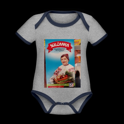 Babushka's fines - Organic Baby Contrasting Bodysuit