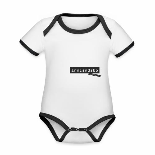 Innlandsbo, Västerbotten - Ekologisk kontrastfärgad kortärmad babybody