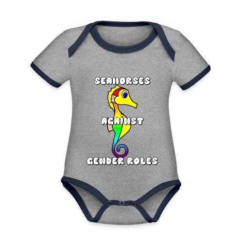 Seahorses against gender roles - Organic Baby Contrasting Bodysuit
