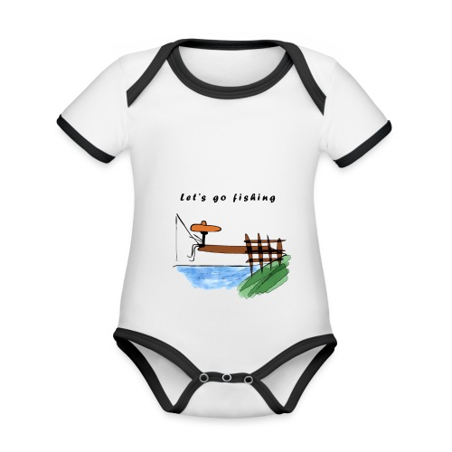 Let's go fishing - Organic Baby Contrasting Bodysuit