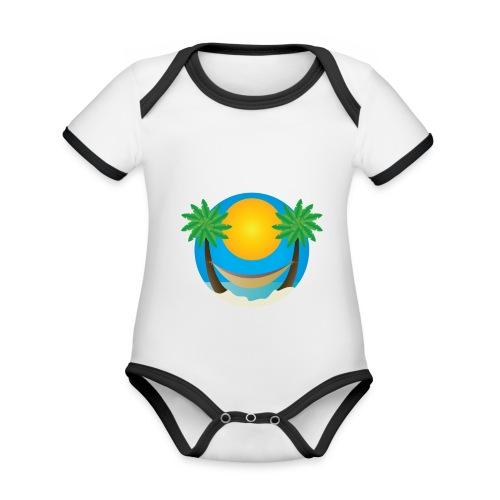 Île de rêve - Body Bébé bio contrasté manches courtes