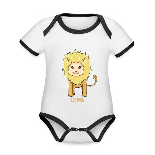 Le roi - Body Bébé bio contrasté manches courtes