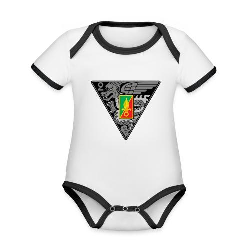 2ème REP - Body Bébé bio contrasté manches courtes