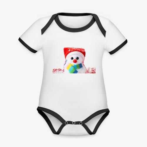 balwanek - Ekologiczne body niemowlęce z krótkim rękawem i kontrastowymi lamówkami