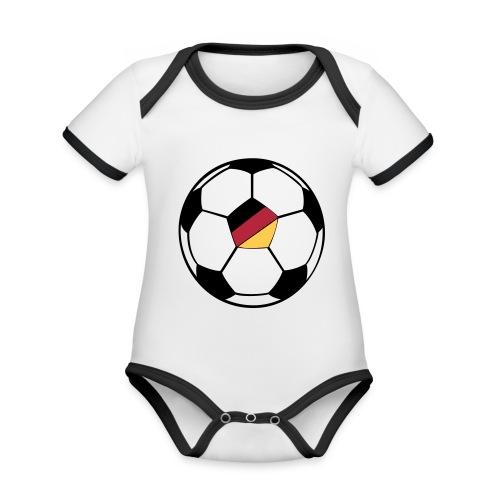 fussball deutschland - Baby Bio-Kurzarm-Kontrastbody