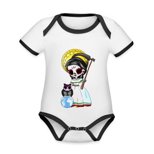 ✦ La Muerte Mexicana ✦ - Baby Bio-Kurzarm-Kontrastbody