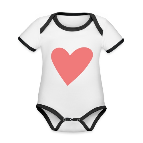 Popup Weddings Heart - Organic Baby Contrasting Bodysuit