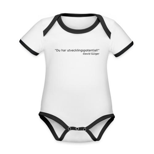 Ju jutsu kai förslag 1 version 1 svart text - Ekologisk kontrastfärgad kortärmad babybody
