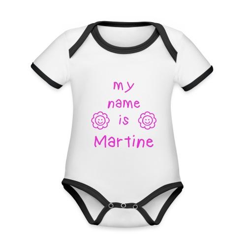 MARTINE MY NAME IS - Body Bébé bio contrasté manches courtes