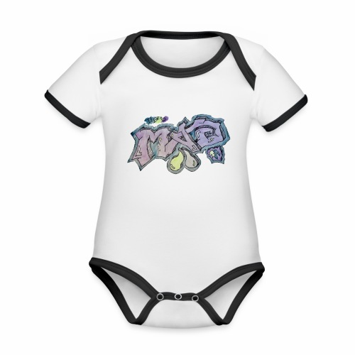 Life Is Mad TM Collaboration - Organic Baby Contrasting Bodysuit