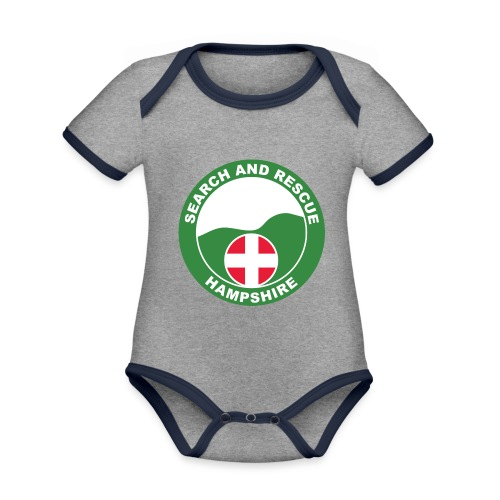 HANTSAR roundel - Organic Baby Contrasting Bodysuit