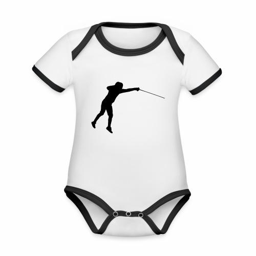 Jumping Fencer - Baby Bio-Kurzarm-Kontrastbody