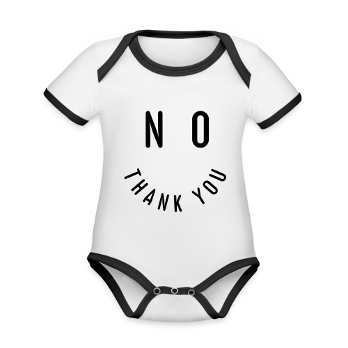 NO THANK YOU - Baby Bio-Kurzarm-Kontrastbody