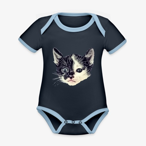 Double sided - Organic Baby Contrasting Bodysuit
