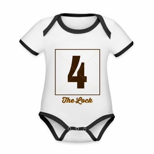 Lock4_Marplo.png - Body da neonato a manica corta, ecologico e in contrasto cromatico