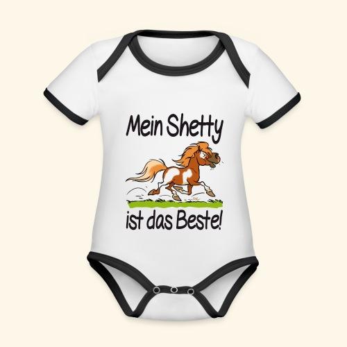 Mein Shetty ist das Beste (Text Schwartz) - Body Bébé bio contrasté manches courtes