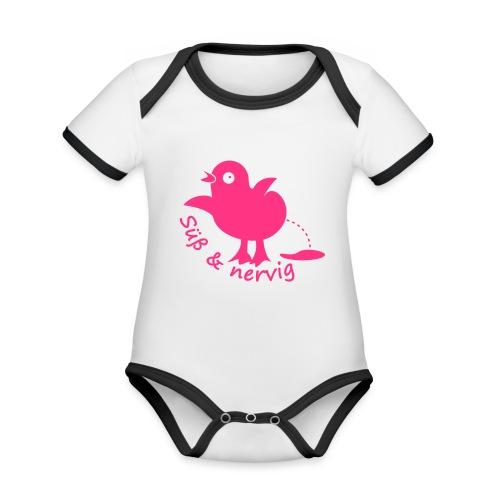 Küken Süß und nervig - Baby Bio-Kurzarm-Kontrastbody