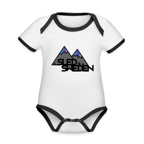 SledSweden Official Logo Special Edition - Ekologisk kontrastfärgad kortärmad babybody