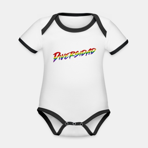 Diversidad Gay - Body contraste para bebé de tejido orgánico