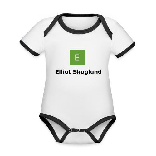 Prenumerera - Ekologisk kontrastfärgad kortärmad babybody