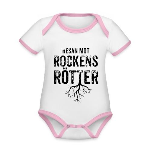 Nallebjörn, Rockens rötter - Ekologisk kontrastfärgad kortärmad babybody
